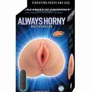 Always Horny Masturbator Vibrating Pussy and Ass - Flesh
