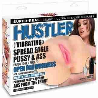 Hustler Toys Sasha Grey Vibrating Spread Eagle Pussy & Ass w/2 Holes