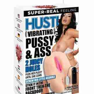 Hustler Toys Vibrating Pussy & Ass - 2 Juicy Holes