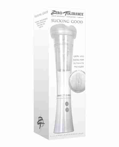 Zero Tolerance Sucking Good Rechargeable Vibrating Pump - White/Clear