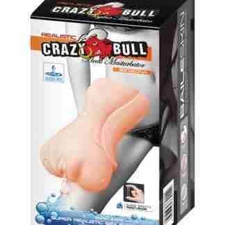 Crazy Bull No Lube Vagina Masturbator Sleeve - Ivory