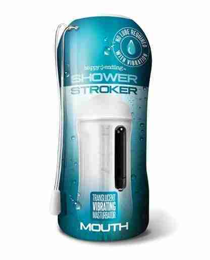 Shower Stroker Vibrating Ass - Clear