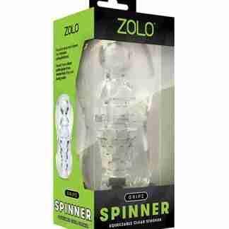 ZOLO Gripz Spinner Stroker - Clear