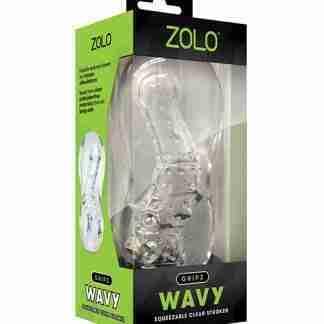 ZOLO Gripz Wavy Stroker - Clear